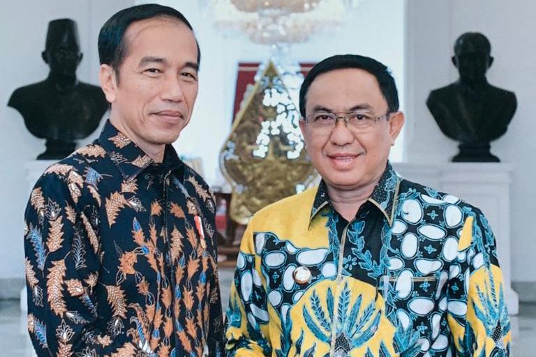 Jumpa Jokowi, Bupati Inhil Ajukan Proposal Permohonan Bantuan