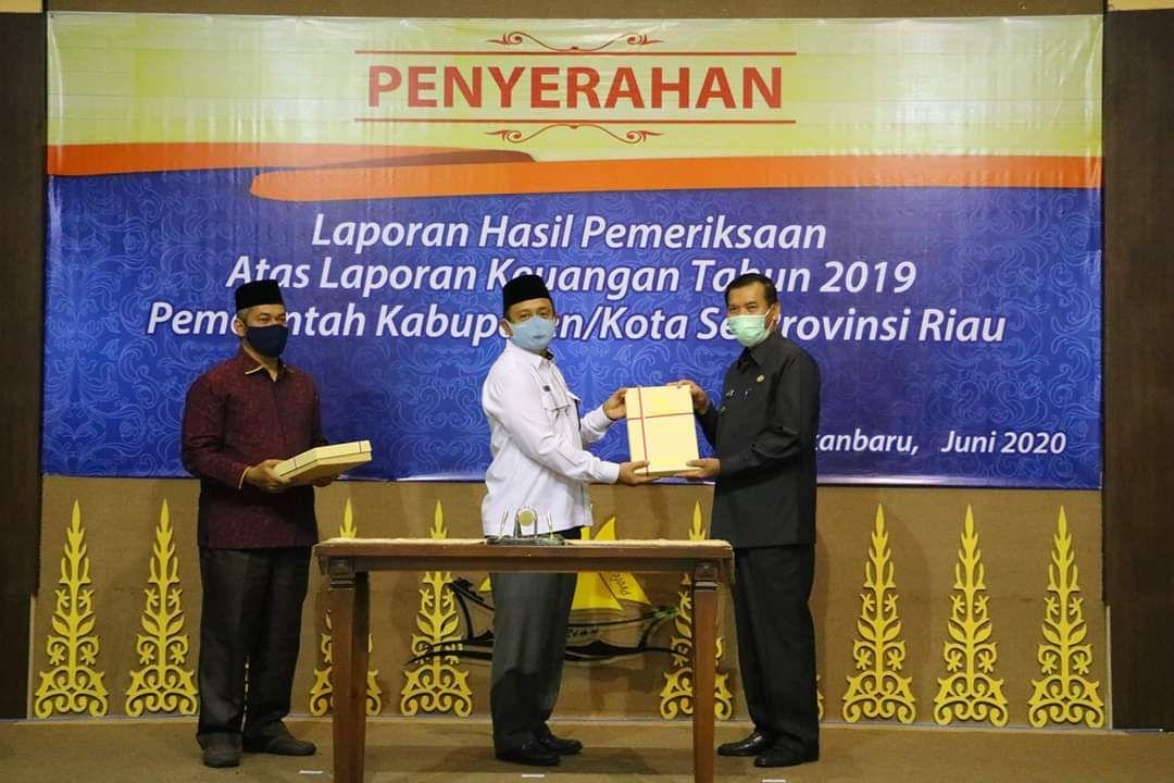 Kota Pekanbaru Empat Kali Berturut-turut Raih WTP dari BPK