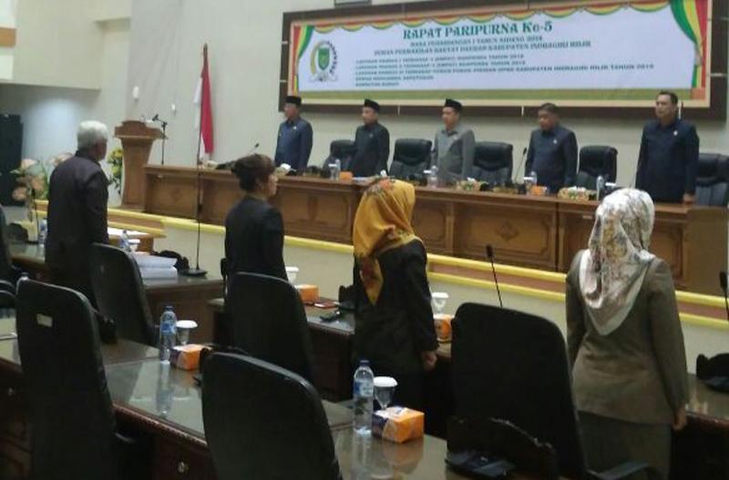 DPRD Inhil Gelar Rapat Paripurna Ke-5 Masa Persidangan I, Tahun Sidang 2018