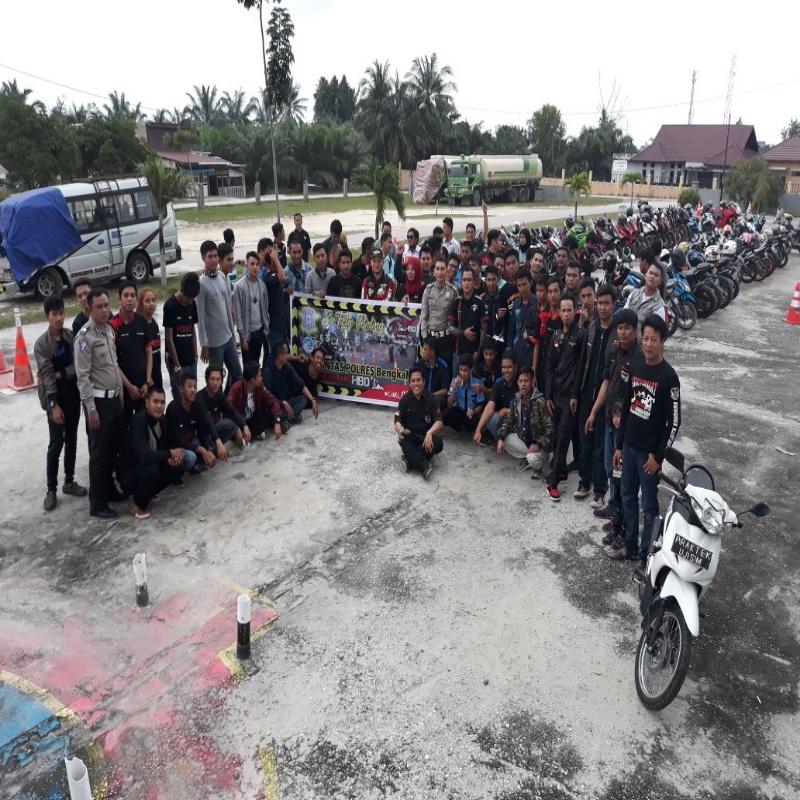 Komunitas Honda Bikers Duri gelar Training Safety Riding di Satlantas Duri
