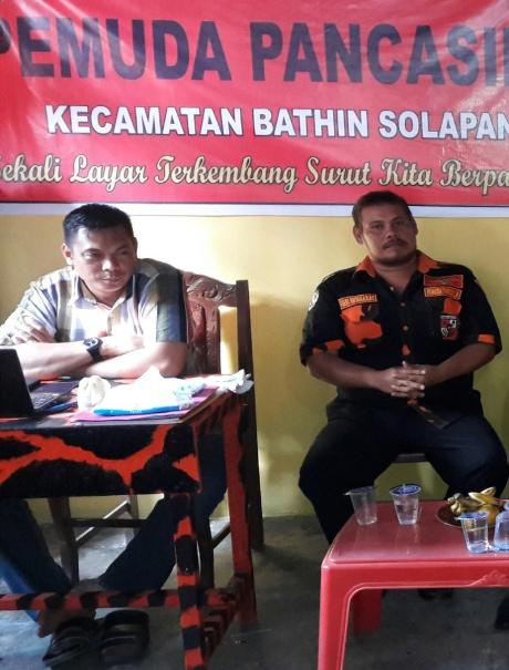 Fredi Hutabarat : Siap untuk melaksanakan RPP pertama Pemuda Pancasila di Kecamatan Bathin Solapan