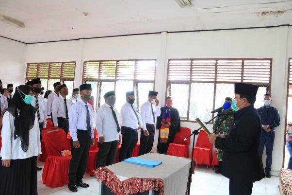 Bupati Rohul H. Sukiman Lantik 51 Anggota BPD se- Kecamatan Tambusai