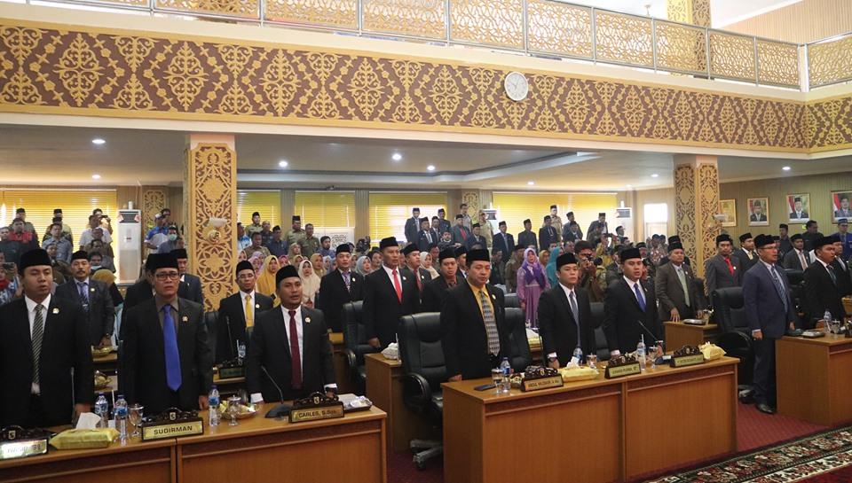 Usai Dilantik, DPRD Pelalawan Gelar Paripurna Perdana Pengesahan Alat Kelengkapan Dewan