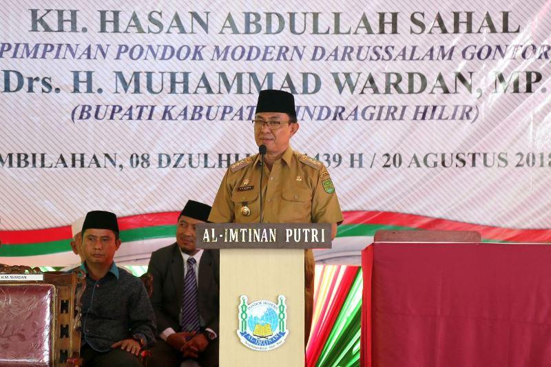 Bupati Inhil Lakukan Peletakan Batu Pertama Pembangunan Masjid di PMIP