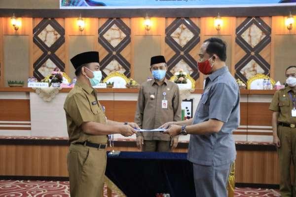 Wawako Pekanbaru Pimpin Sertijab Pejabat Tinggi Pratama