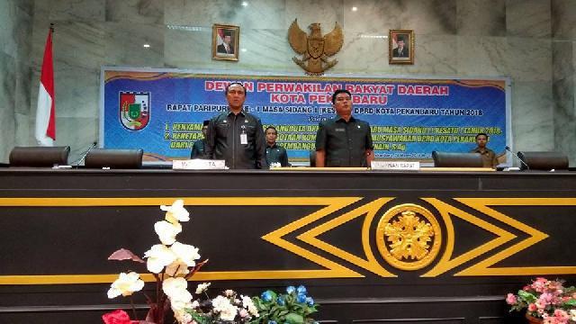 DPRD Pekanbaru Gelar Rapat Paripurna Penyampaian Laporan Reses Tahun 2018