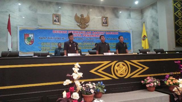 DPRD dan Pemko Pekanbaru Gelar Paripurna Jawaban Kepala Daerah Tentang Ranperda Pengolaan Aset