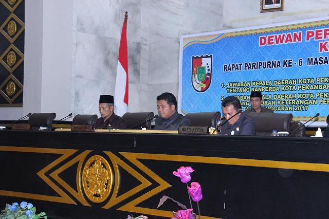 Seluruh Fraksi DPRD Pekanbaru Setujui Ranperda Pengelolaan Aset