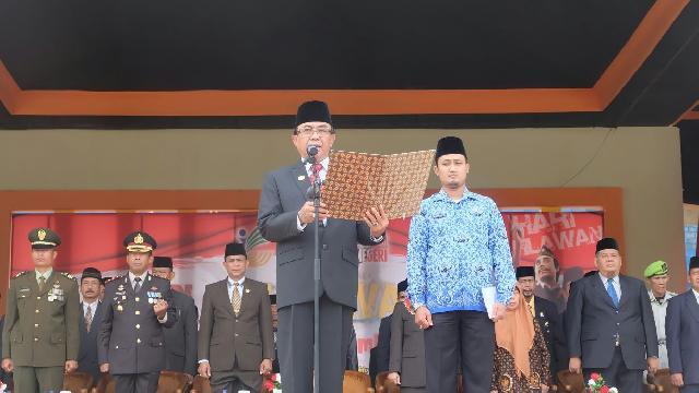 Bupati Inhil Irup Hari Pahlawan Tahun 2017